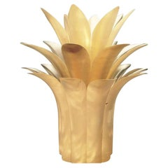 Exquisite Hand-Crafted Brass Pineapple Plumage Sculpture