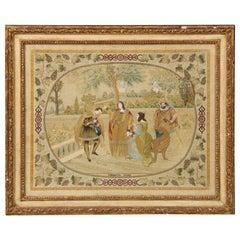 Exquisite Italian Silkwork Picture