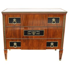 Exquisite John Widdicomb Neoclassical Chest with Marble Top
