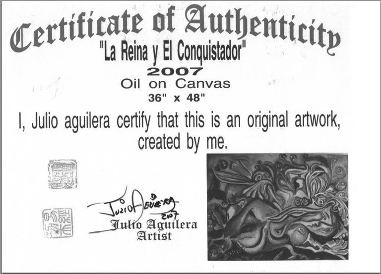 Exquisite Julio Aguilera Oil Painting on Canvas For Sale 4