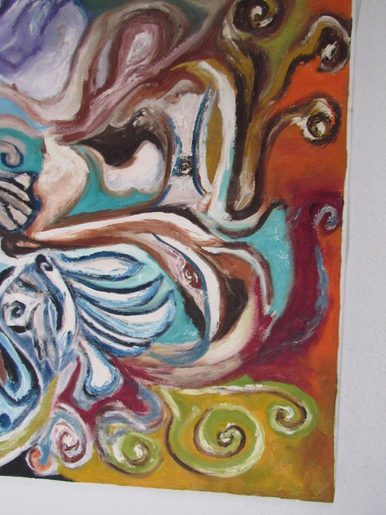Exquisite Julio Aguilera Oil Painting on Canvas For Sale 1
