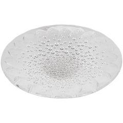 Art Deco Revival Translucent Crystal Centerbowl w/ Fish Motif by Lalique