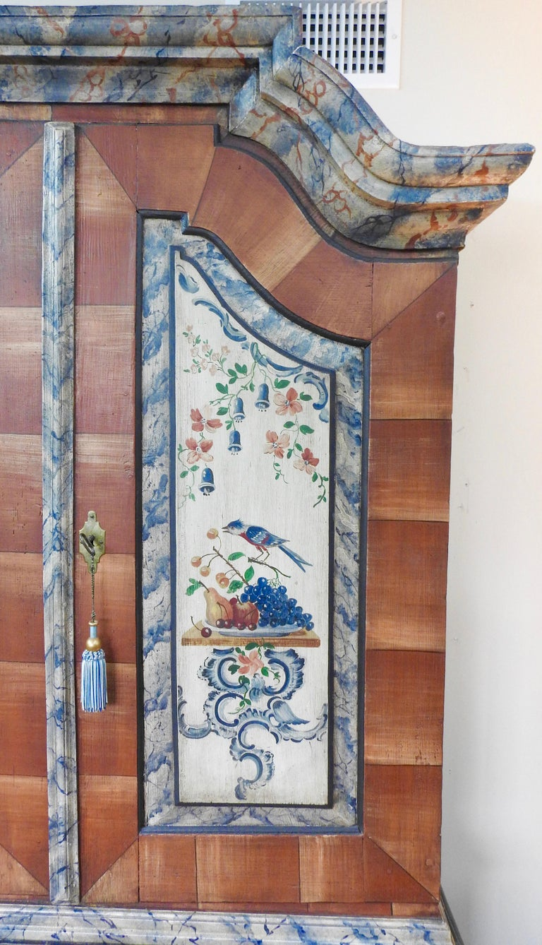 Exquisite Late 18th Century Scandinavian Painted Wardrobe For Sale 11