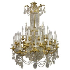 Exquisite Late 19th Century Gilt Bronze and Crystal Chandelier by Baccarat