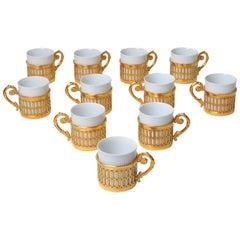 Exquisite Luxe Arzberg Gold & Porcelain Espresso Cup Set