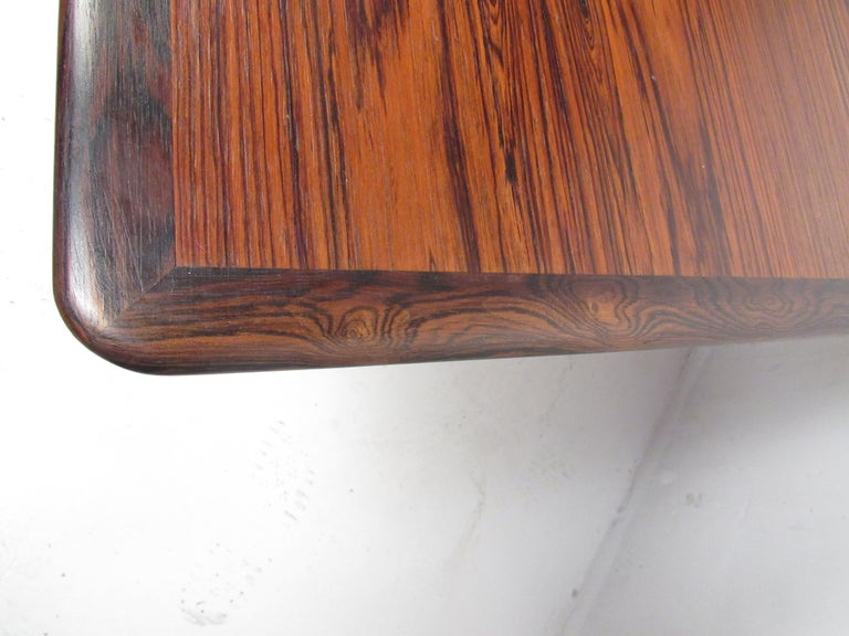 Exquisite Midcentury Danish Rosewood Draw Leaf Dining Table For Sale 7