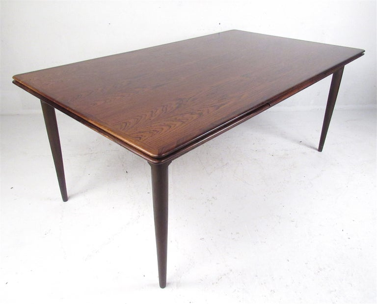 Mid-Century Modern Exquisite Midcentury Danish Rosewood Draw Leaf Dining Table For Sale