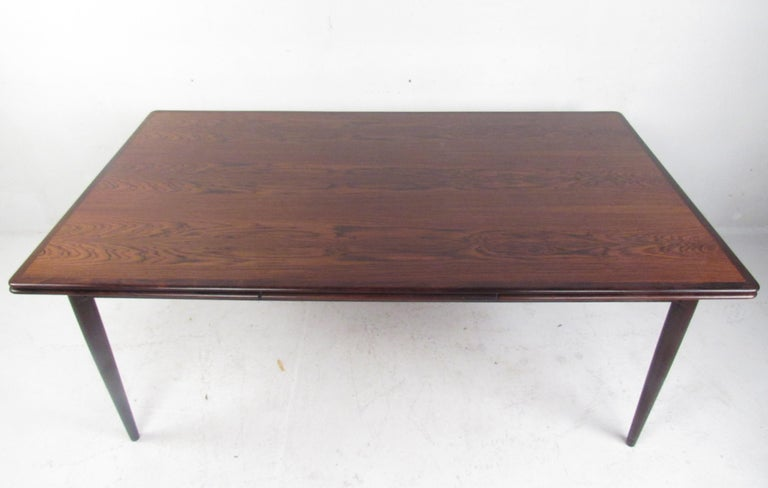 Mid-20th Century Exquisite Midcentury Danish Rosewood Draw Leaf Dining Table For Sale