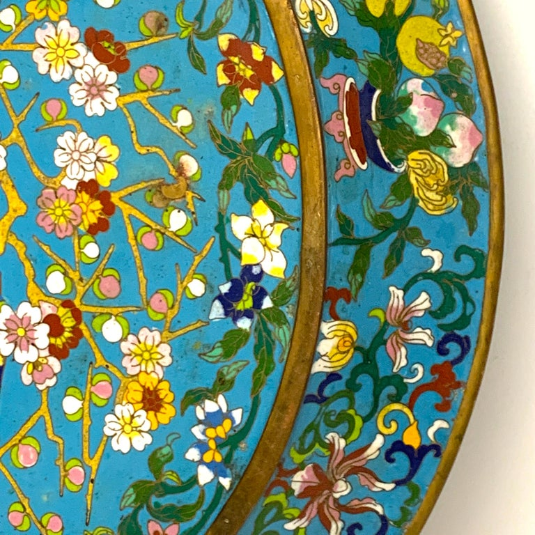 Exquisite Ming Style Cloisonné Charger and Stand For Sale 9