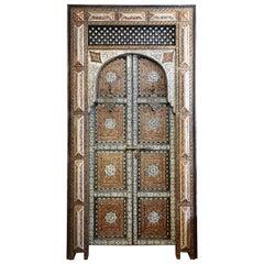 Exquisite Moroccan Palace Door with Camel Bone and Semi Precious Stones
