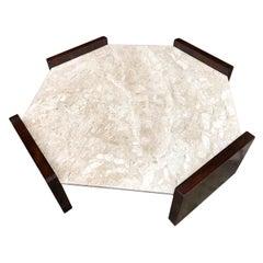 Exquisite Octagonal Table By Joaquim Tenreiro
