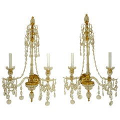 Exquisite Pair of Georgian Sconces in the Adam Style, Attributed to Wm. Parker
