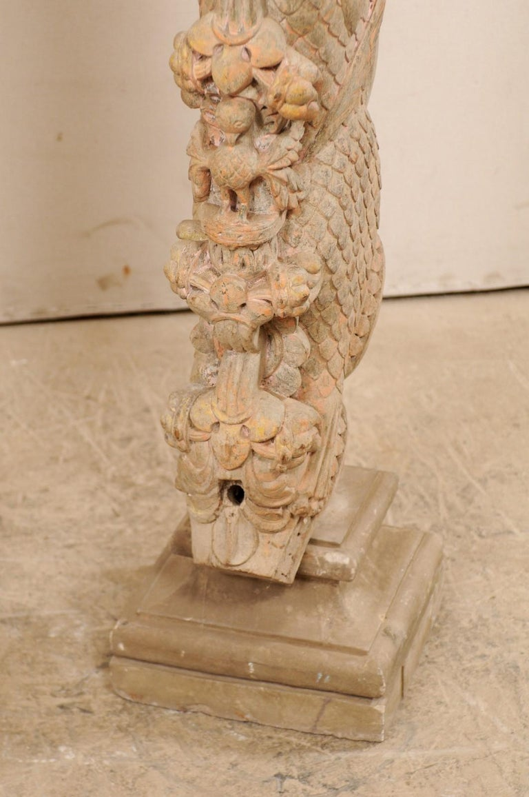 Exquisite Pair of 19th Century Hand Carved Hindu Temple Struts, South India For Sale 6