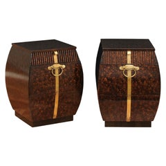 Exquisite Pair of Bombe Small Chests by Bert England for Widdicomb, circa 1965