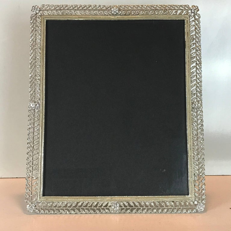 Exquisite paste Russian style frame, with enamel surround, will display a 7.5