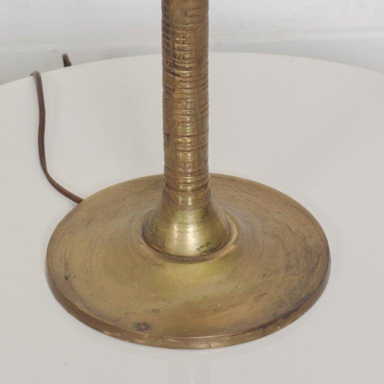 Exquisite Pepe Mendoza Palm Tree Table Lamp in Bronze & Malachite, 1950s, Mexico For Sale 3