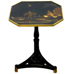Exquisite Regency Chinoiserie Side Table