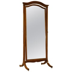 Exquisite Restored Howard & Son's Berners Street Walnut & Mahogany Cheval Mirror
