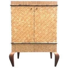 Exquisite Organic Modern Cabinet, circa 1990