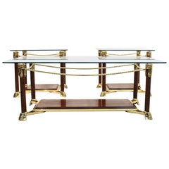 Exquisite Set Hollywood Regency Side or Coffee Tables