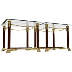 Exquisite Set Hollywood Regency Side Tables