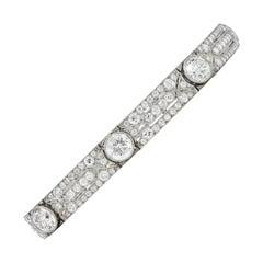 Exquisite Tiffany & Co. Edwardian 11.21 Carat Diamond Platinum Bracelet