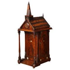 Exquisite Tunbridgeware Chapel Form Box/Chest