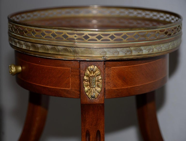 Exquisite Two-Tier Italian Mahogany & Marble Side Table, circa 1910 For Sale 5