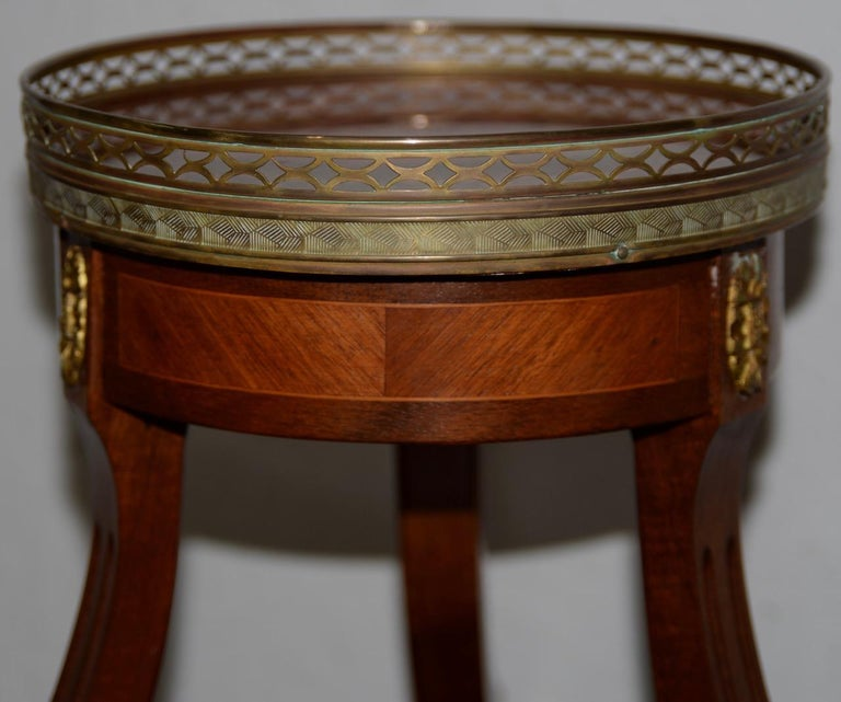 Exquisite Two-Tier Italian Mahogany & Marble Side Table, circa 1910 For Sale 6