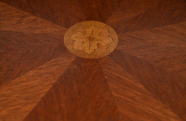 Exquisite Two-Tier Italian Mahogany & Marble Side Table, circa 1910 For Sale 1