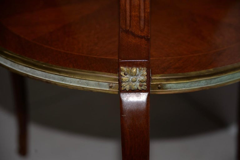 Exquisite Two-Tier Italian Mahogany & Marble Side Table, circa 1910 For Sale 4