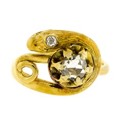 Exquisite Victorian Diamond and 18 Karat Snake Ring