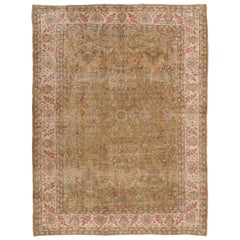 Exquisite Vintage Floral Design Anatolia Rug in Soft Colors