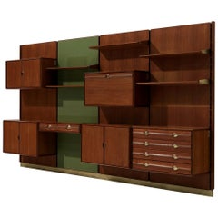 Exquisite Wall Unit by Cantú in Teak
