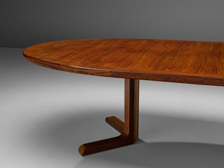 Scandinavian Modern Extendable Danish Dining Tablein Teak For Sale