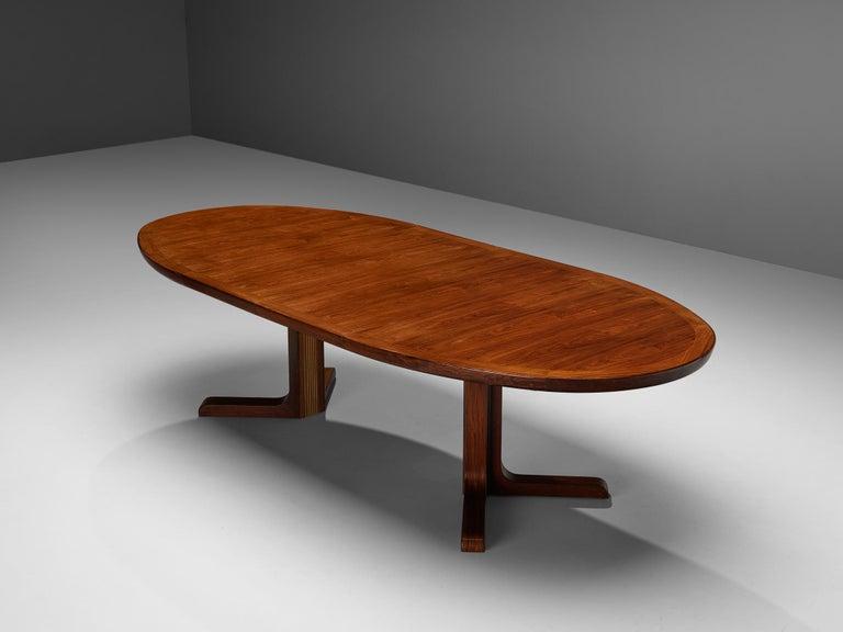 Extendable Danish Dining Tablein Teak In Good Condition For Sale In Waalwijk, NL
