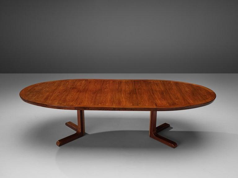 Extendable Danish Dining Tablein Teak For Sale 1