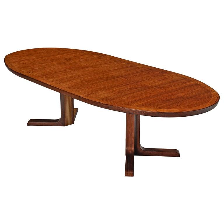 Extendable Danish Dining Tablein Teak For Sale