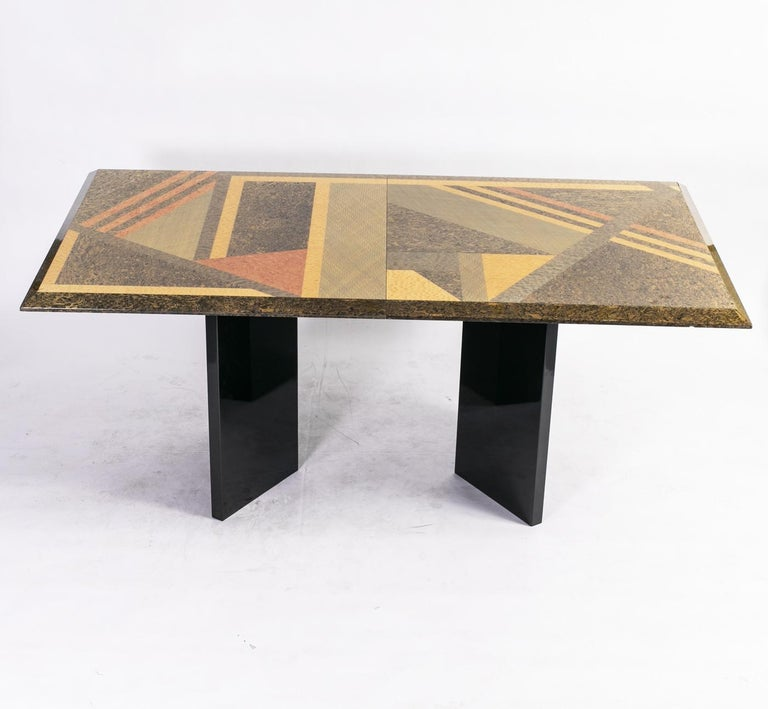 Extendable Dining Table by Giovanni Offredi for Saporiti, Italy, circa 1980 8
