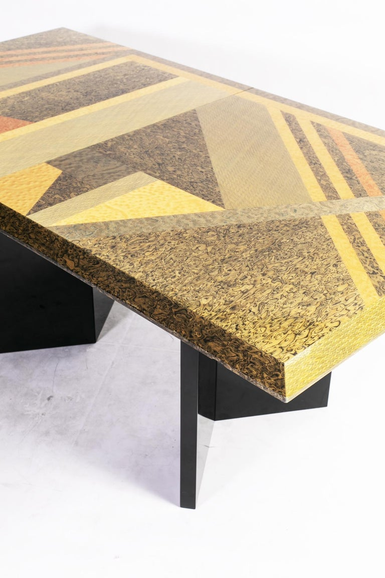 Extendable Dining Table by Giovanni Offredi for Saporiti, Italy, circa 1980 9