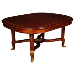 Extendable French Table in Mahogany Wood, 20th Century