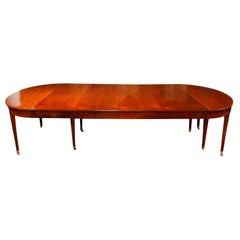 Extendable Mahogany Dining Room Table, Directoire Period