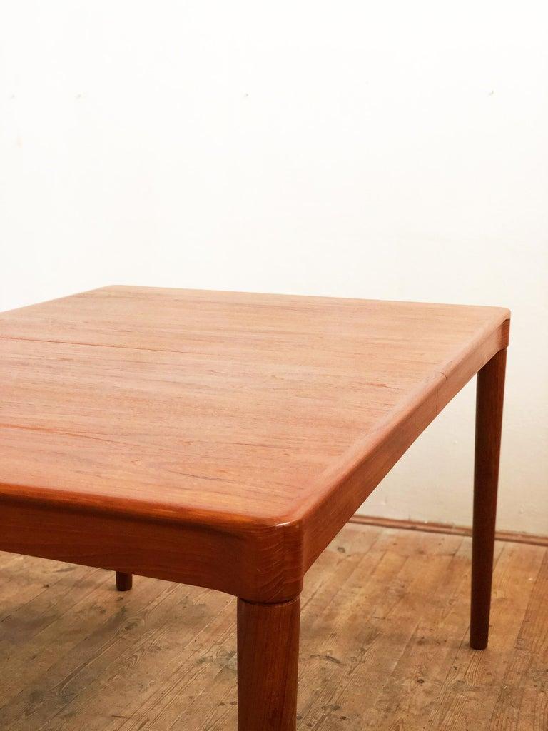 Extendable Midcentury Teak Dining Table by H.W. Klein for Bramin, Denmark For Sale 4