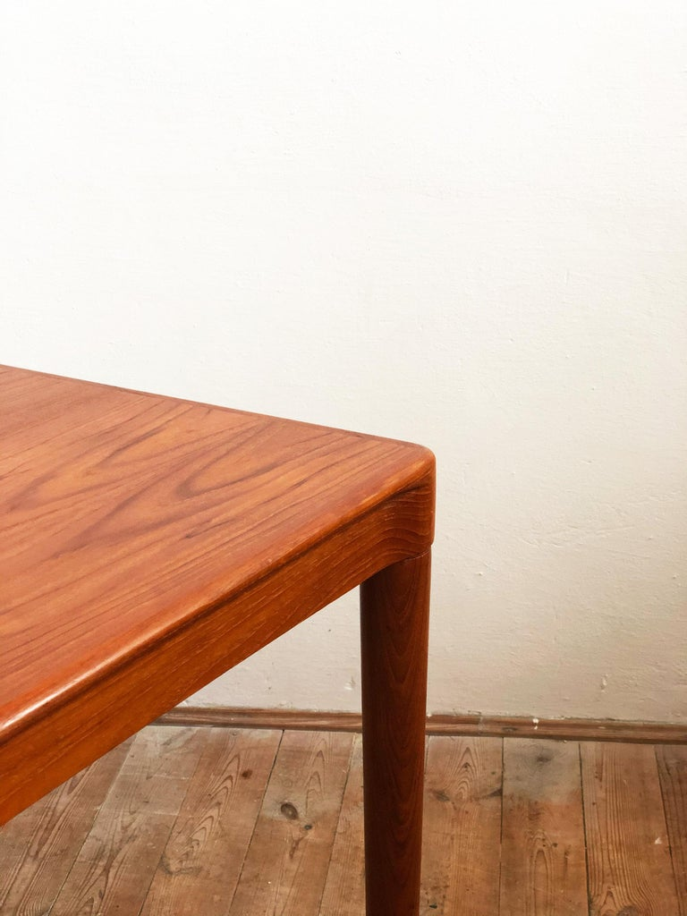 Extendable Midcentury Teak Dining Table by H.W. Klein for Bramin, Denmark For Sale 8