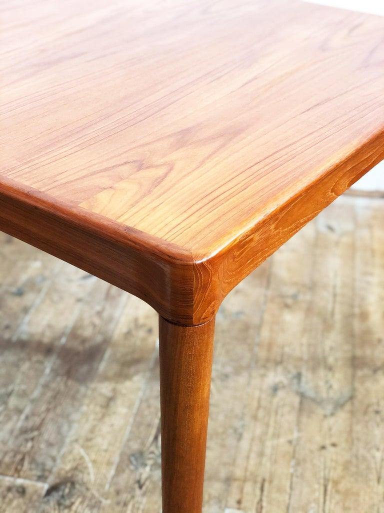 Extendable Midcentury Teak Dining Table by H.W. Klein for Bramin, Denmark For Sale 9