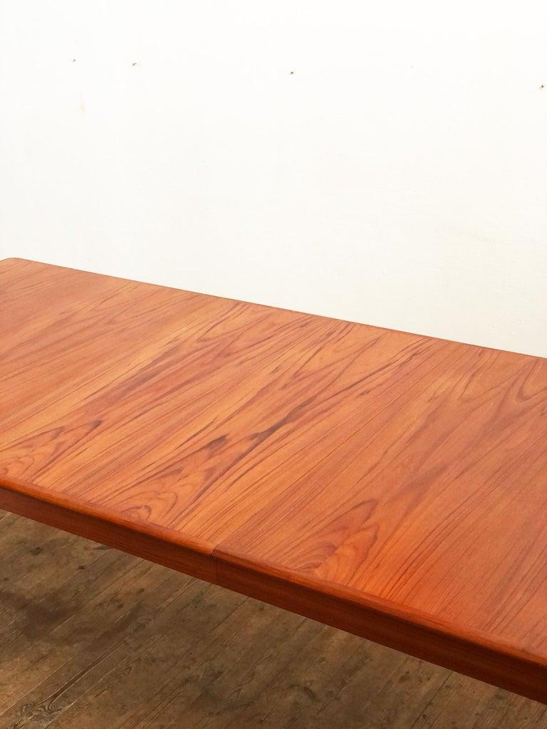 Extendable Midcentury Teak Dining Table by H.W. Klein for Bramin, Denmark For Sale 2