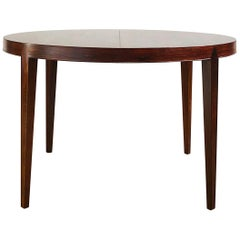 Extendable Rosewood Dining Table by Severin Hansen for Haslev Møbelsnedkeri