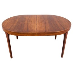 Extendable Rosewood Dining Table, Omann Jun, Danish Design, 1960s