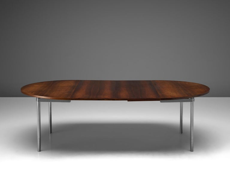 Mid-Century Modern Extendable Rosewood Table by Hans Wegner for Andreas Tuck For Sale
