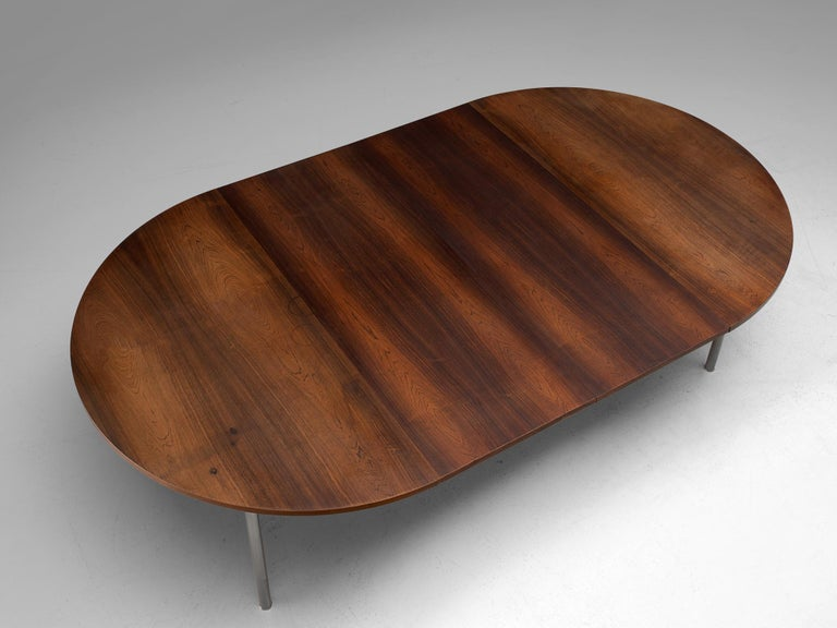 Danish Extendable Rosewood Table by Hans Wegner for Andreas Tuck For Sale